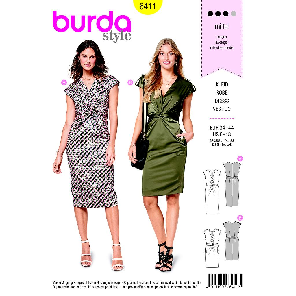 Patron Burda 6411 Robe