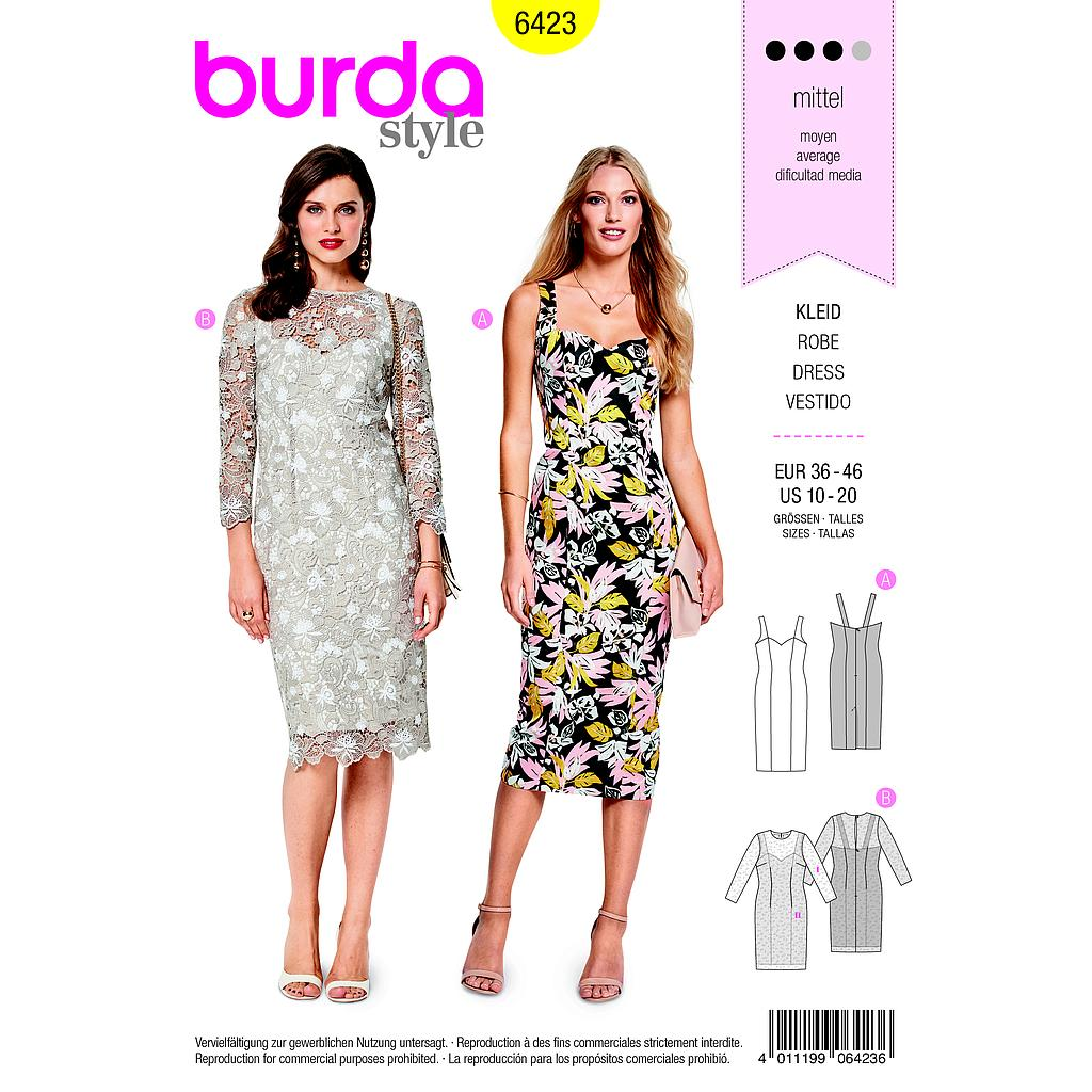 Patron Burda 6423 Robe