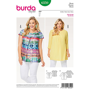 Patron Burda 6550 Blouse