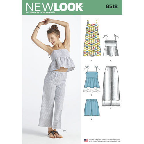 Patron New Look 6518 Ensemble pour dames