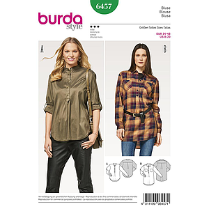 Patron Burda 6457 Blouse