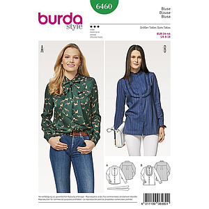 Patron Burda 6460 Blouse