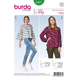 Patron Burda 6477 Blouse