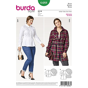 Patron Burda 6488 Blouse