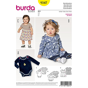 Patron Burda Kids 9347 Ensemble