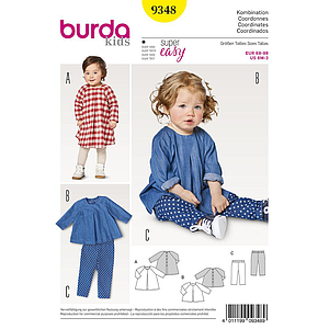 Patron Burda Kids 9348 Ensemble
