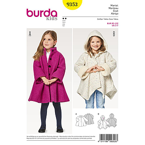 Patron Burda Kids 9353 Manteau