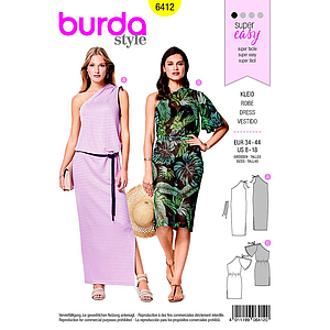Patron Burda 6412 Robe