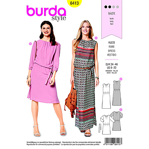 Patron Burda 6413 Robe