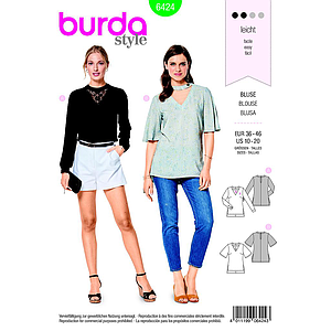 Patron Burda 6424 Blouse