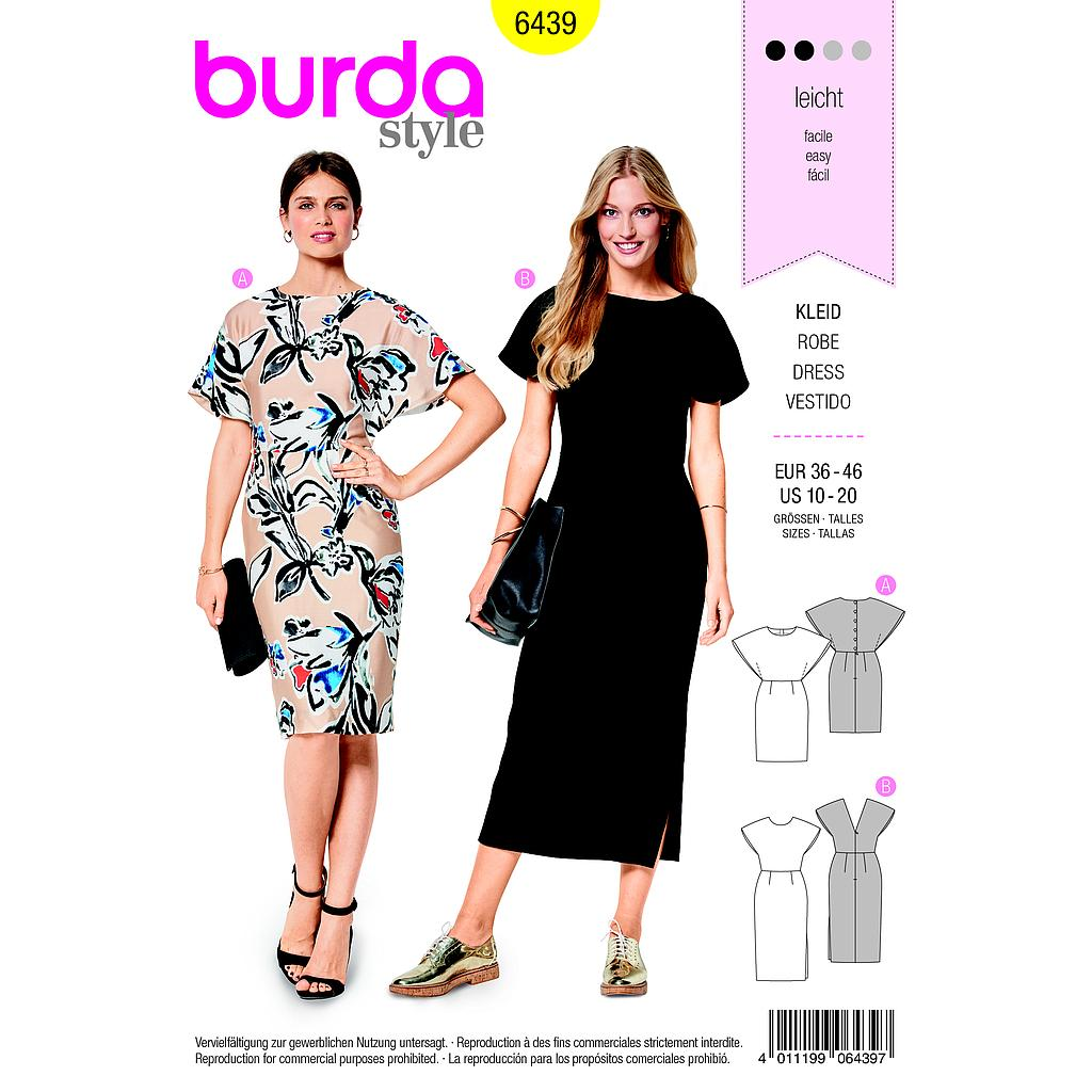Patron Burda 6439 Robe