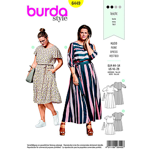 Patron Burda 6449 Robe