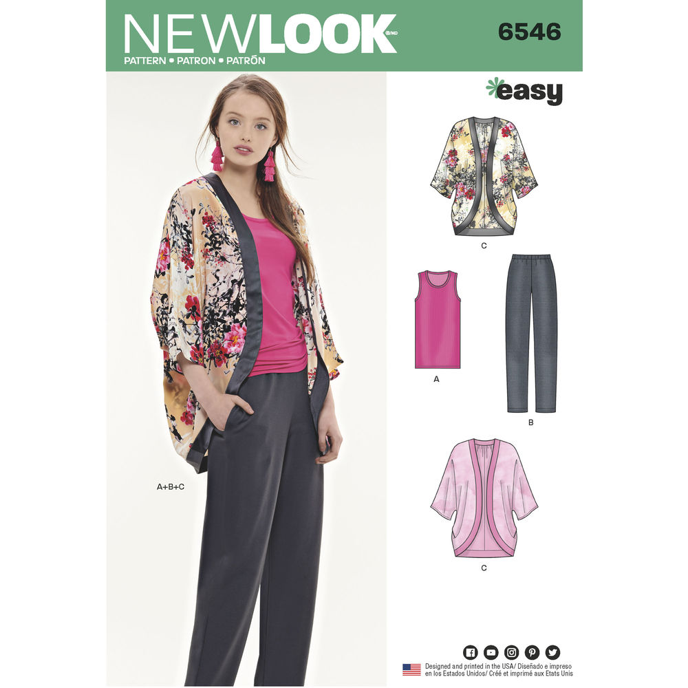 Patron New Look 6546 Ensemble pour dames