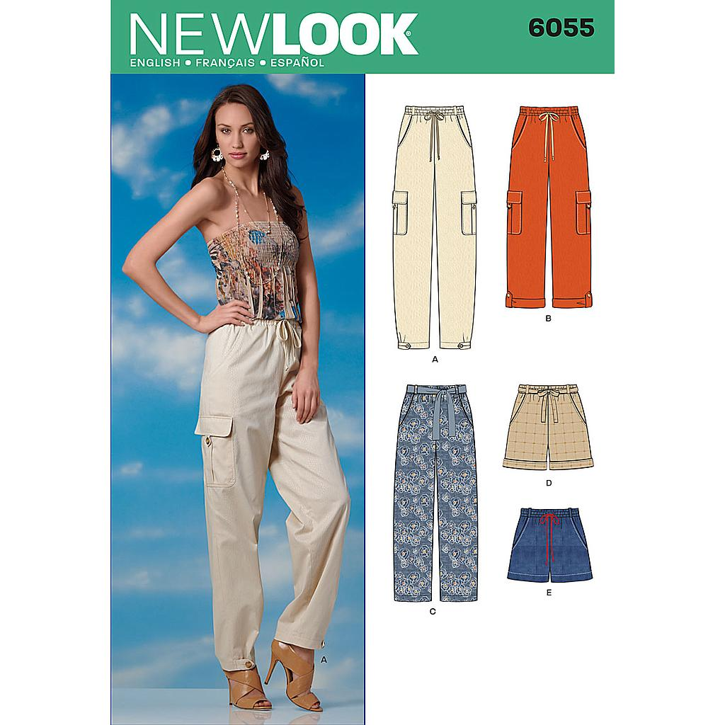Patron New Look 6055 Pantalon