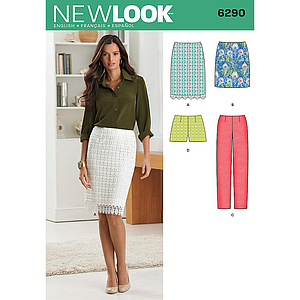 Patron New Look 6290 Jupe, short, pantalon