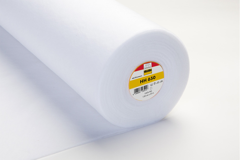 HH 650 Entoilage thermocollant volumineux sur deux faces - blanc 150 cm x 25 m