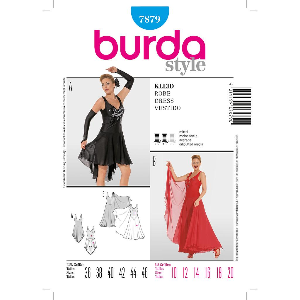 Patron Burda 7879 Robe