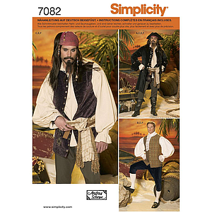 Patron Simplicity 4923 costume pirate hommes