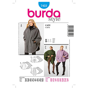 Patron Burda 7422 Cape