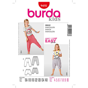 Patron Burda 9493 Kids Pantalon