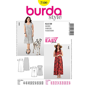 Patron Burda 7100 Robe