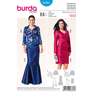 Patron Burda 6781 Ensemble dame