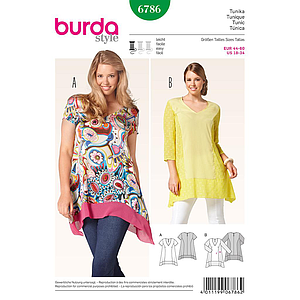 Patron Burda 6786 Tunique