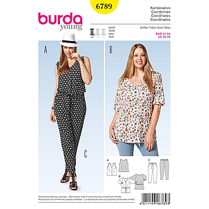 Patron Burda 6789 Ensemble dame