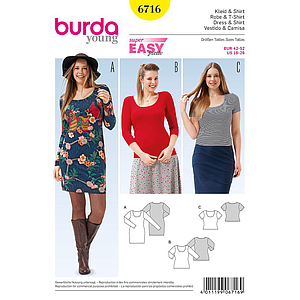 Patron Burda 6716 Robe & T-shirt