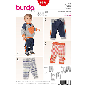 Patron Burda 9398 Kids Pantalon