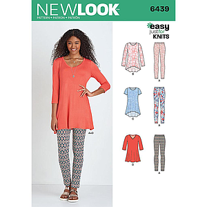 Patron New Look 6439 Ensemble dames