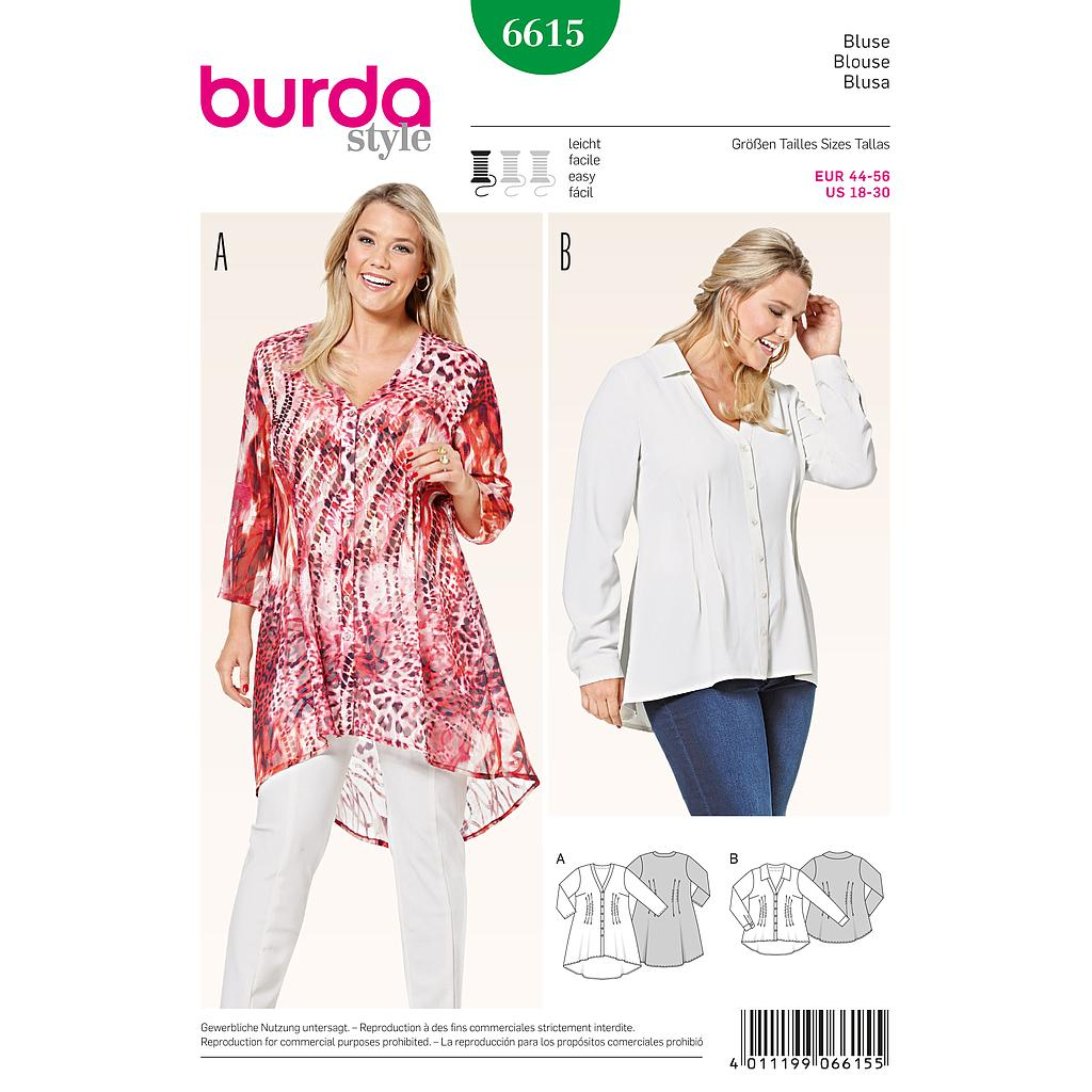 Patron Burda 6615 Blouse